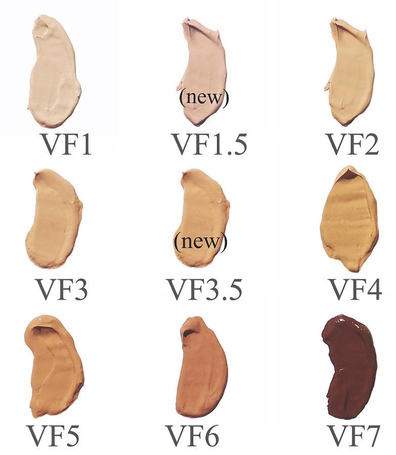 Fitglow Vita Active foundation shades