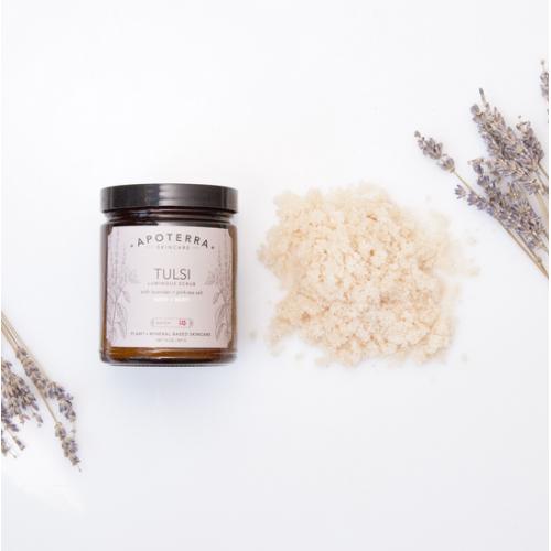 Tulsi Luminous Scrub With Lavender + Pink Sea Salt