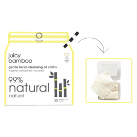 Juicy Bamboo natural facial cleansing oil cloths