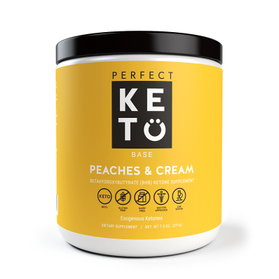Perfect Keto Exogenous Ketone Base - Peaches