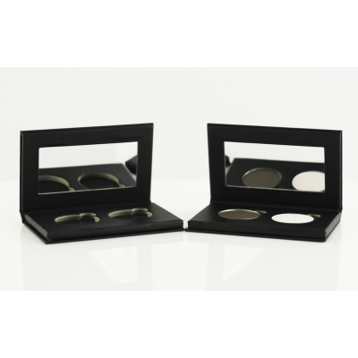 Sappho Double Eyeshadow Black Magnetic Compact