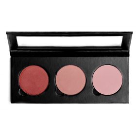 Sappho Triple Blush/Powder Black Magnetic Compact