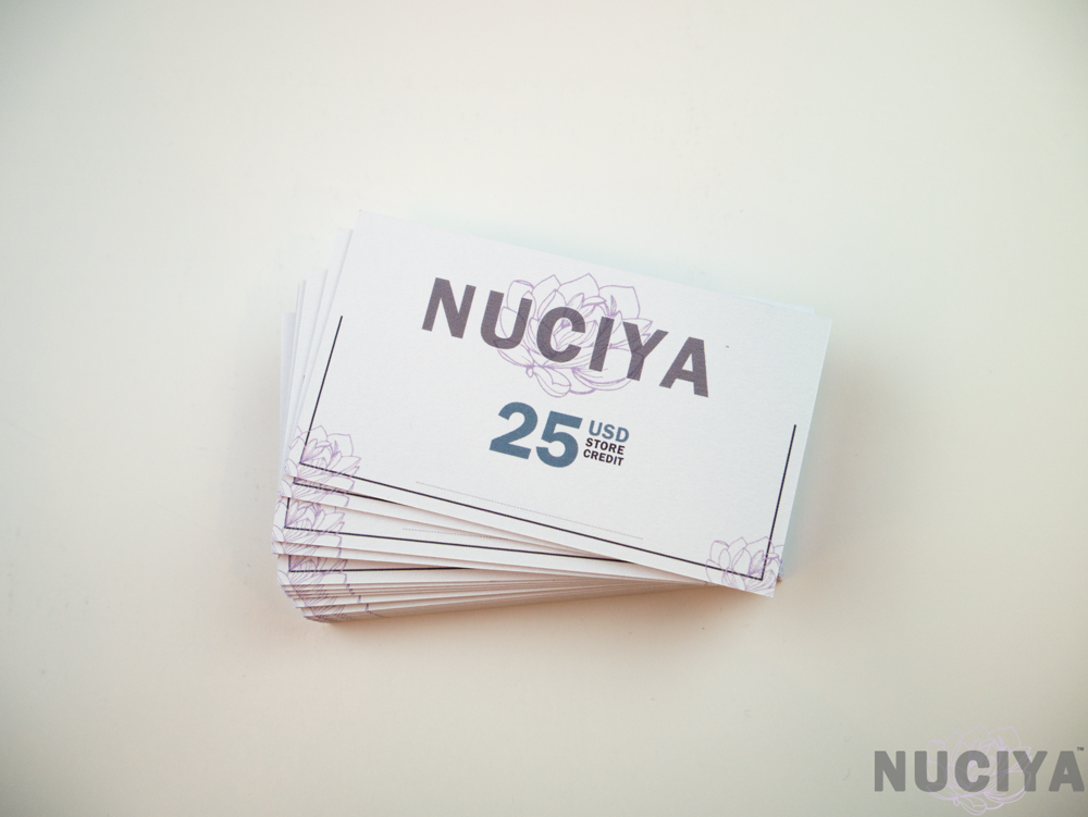 Nuciya natural beauty Black Friday 25 Gift Card