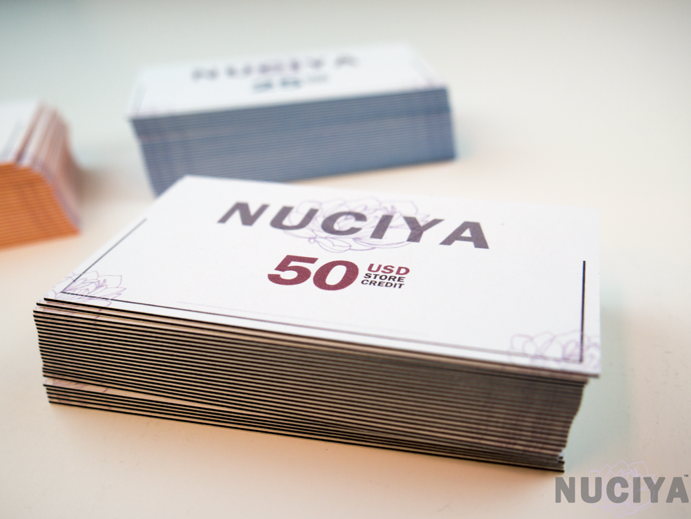 Nuciya natural beauty Black Friday 50 Gift Card