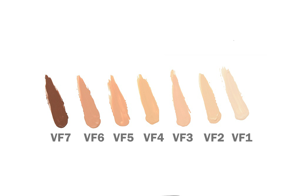 Fitglow Vita Active foundation shades